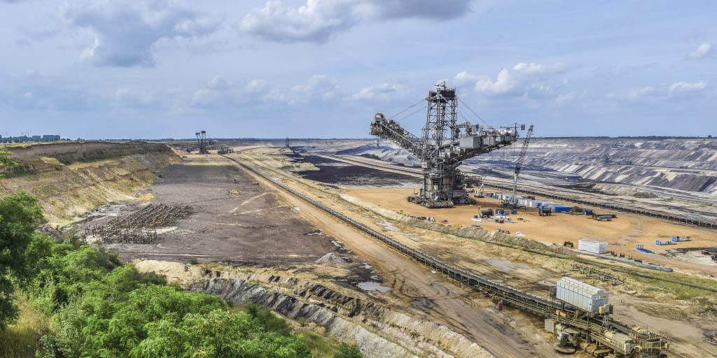 Lignite mining in Germany