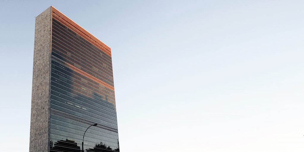 View of the UN Building in New York City