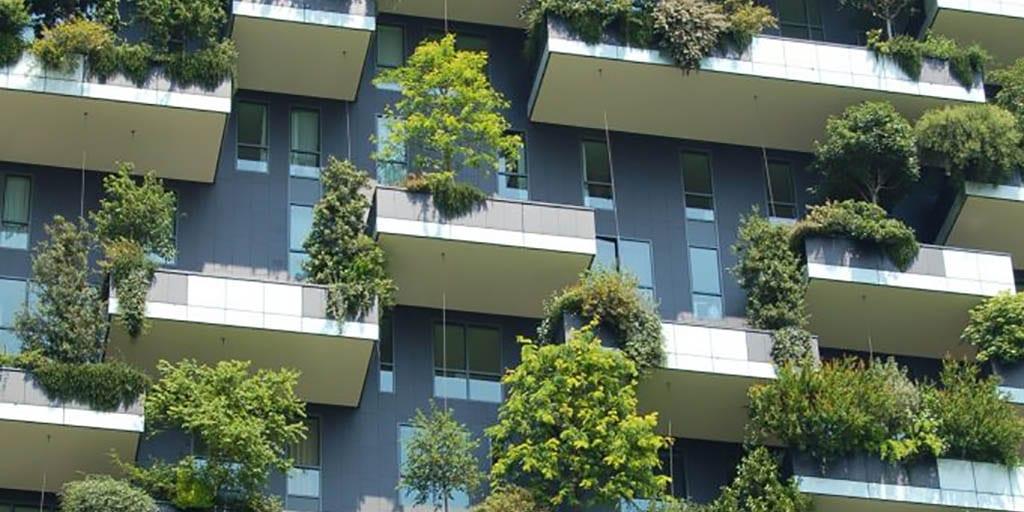 Green house facade