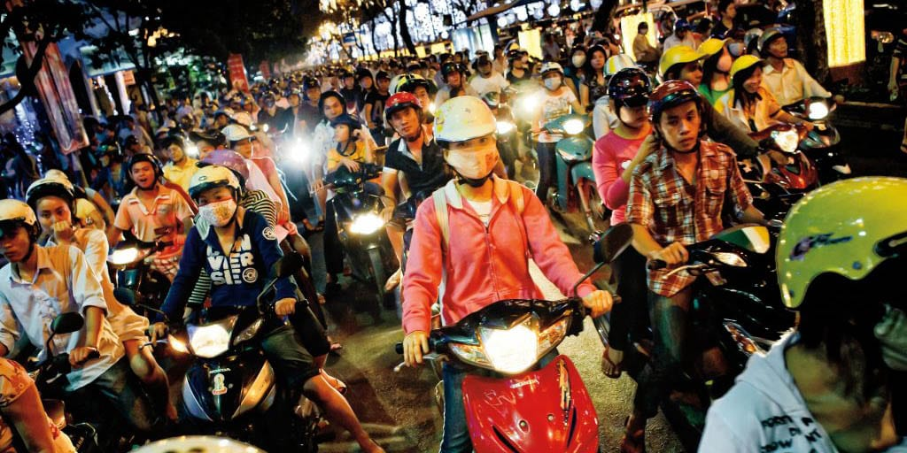 Motocycles in Asia